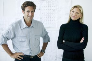 Architects Standing in Front of Blueprints
